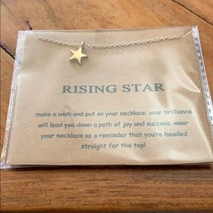 """Rising star"" star necklace"